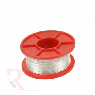 Drut srebrzony, Srebrzanka [RÓŻNE WARIANTY] - 0,5mm - 100g